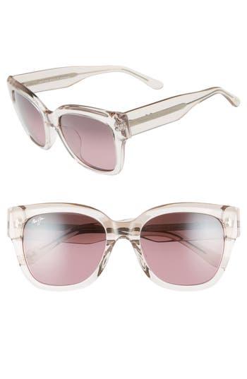 Maui Jim Siren Song 5m Polarizedplus2 Cat Eye Sunglasses - Crystal W/ Hint Of Pink