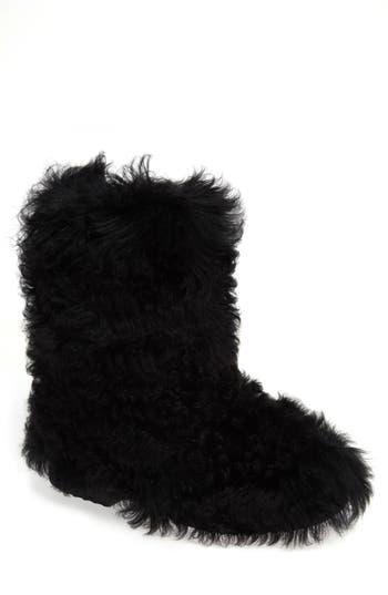 Saint Laurent Genuine Shearling Boot, Black