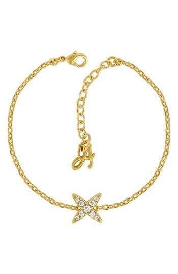 ADORE Crystal 4-Point Star Bracelet, Gold