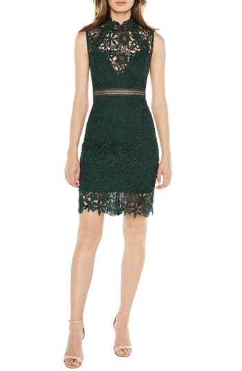 Bardot Paris Lace Body-Con Dress, Green