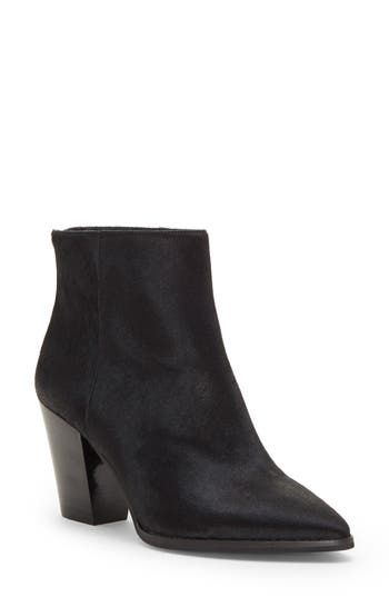 Lucky Brand Adalan Ii Genuine Calf Hair Bootie, Black