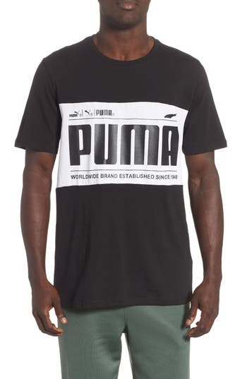 Puma Graphic Logoblock T-Shirt, Black