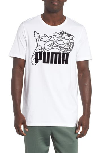 Puma Retro Sports T-Shirt, White