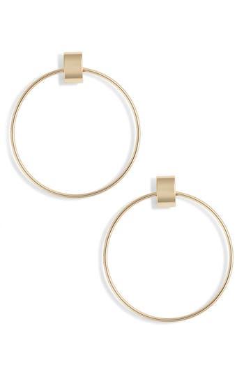 Faye Door Knocker Earrings, Gold