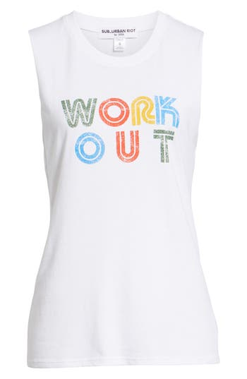 Sub Urban Riot Work Out Muscle Tee, White