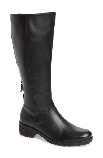Gabor Classic Comfort Knee High Riding Boot- Black