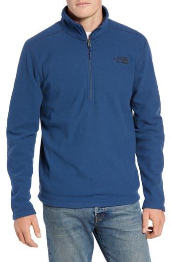 The North Face Texture Cap Rock Quarter Zip Fleece Jacket, Blue