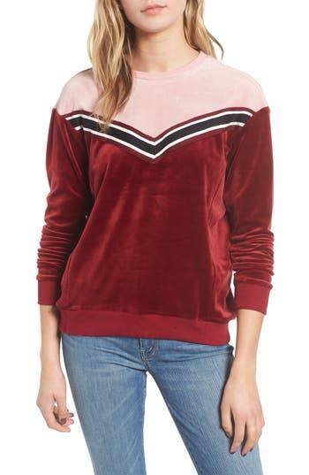 Heartloom Kris Velour Sweatshirt, Red