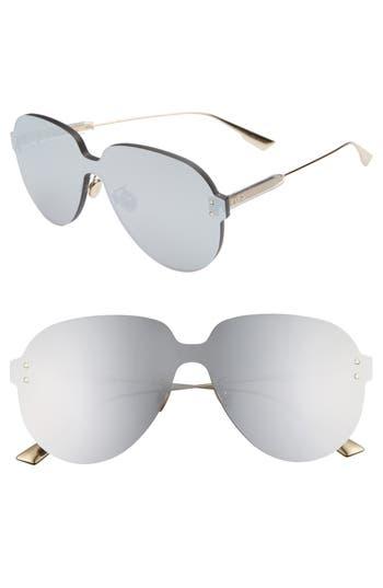 Christian Dior Quake3 14m Rimless Pilot Shield Sunglasses - Silver