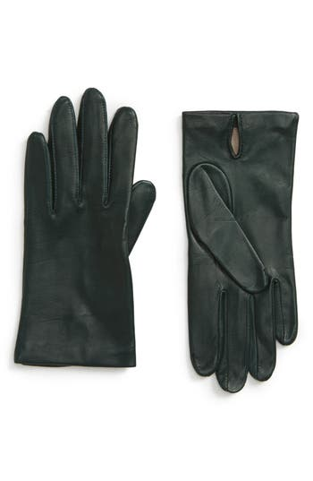 Nordstrom Lambskin Leather Gloves, Green