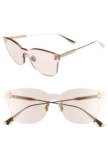 Christian Dior Quake2 135Mm Rimless Shield Sunglasses - Nude