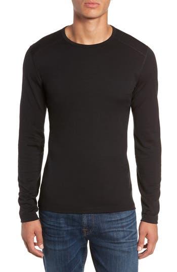 Icebreaker Oasis Long Sleeve Merino Wool Base Layer T-Shirt, Black