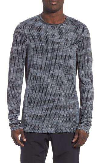 Under Armour Siphon Long Sleeve Camo T-Shirt, Grey