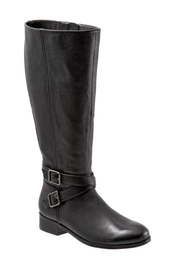 Trotters Liberty Knee High Boot W - Black