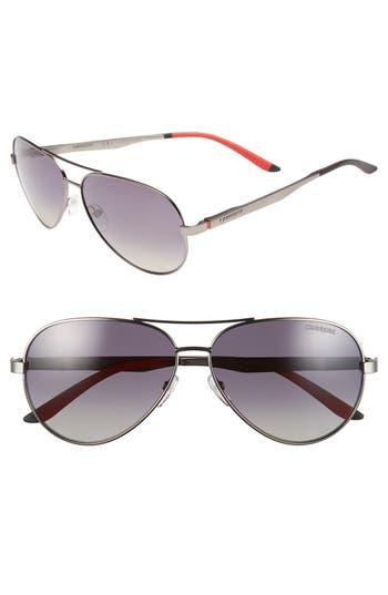 Carrera Eyewear 5m Metal Aviator Sunglasses - Ruthenium/ Grey Gradient