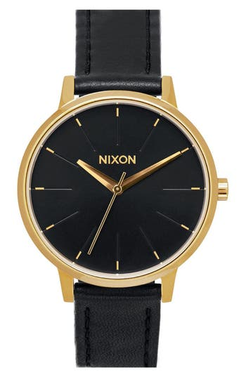 Women's Nixon 'The Kensington' Leather Strap Watch, 37Mm