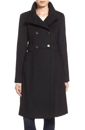 Women's Eliza J Wool Blend Long Military Coat