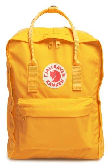 Fjallraven 'Kanken' Water Resistant Backpack - Yellow