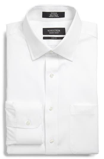 Men's Nordstrom Men's Shop Trim Fit Non-Iron Solid Dress Shirt