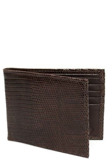 Torino Belts Genuine Lizard Wallet - Metallic