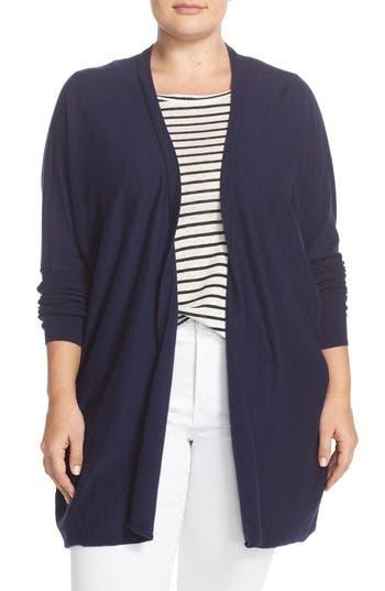 Plus Size Women's Tart 'Darma' Cotton & Cashmere Knit Cardigan
