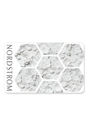 Nordstrom White Floral Wedding Gift Card
