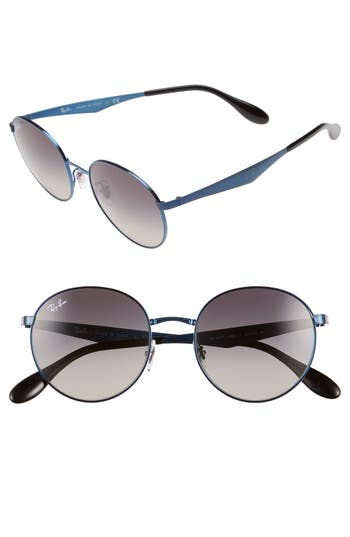 6208cd2212 ... Men s Rb3537 185 11 Blue Metal Phantos EAN 8053672560602 product image  for Women s Ray-Ban  Highstreet  51mm Round Sunglasses ...