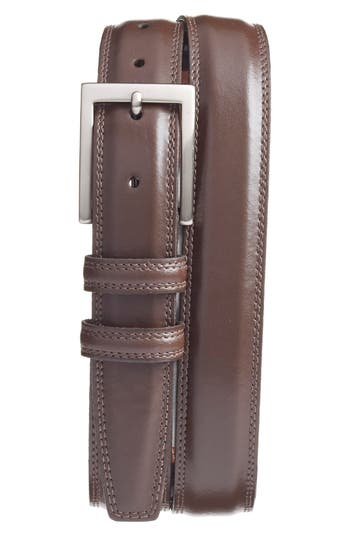 Big & Tall Torino Belts Aniline Leather Belt, Brown