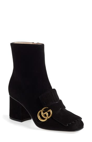 Women's Gucci Gg Marmont Fringe Bootie