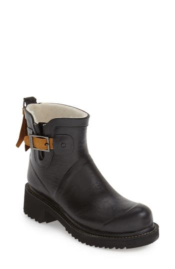 Ilse Jacobsen Short Waterproof Rubber Boot, Black
