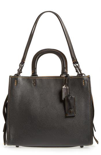 Coach 1941 'Rogue' Leather Satchel - Black