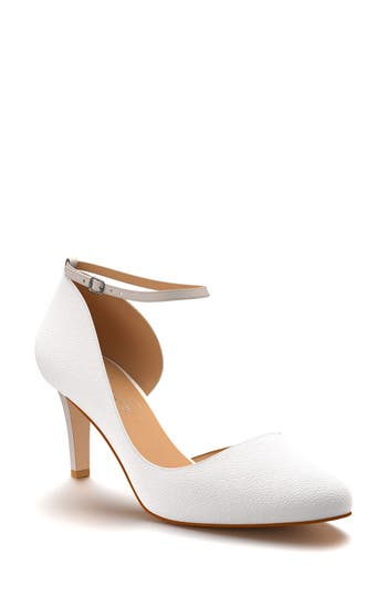 Women's Shoes Of Prey Half D'Orsay Ankle Strap Pump