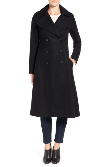 Vintage Style Coats, Jackets, Faux Fur, Tweed Womens French Connection Long Wool Blend Coat Size 8 - Black $198.90 AT vintagedancer.com