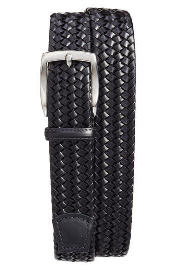 Big & Tall Torino Belts Woven Leather Belt, Black