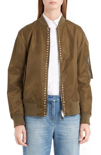 Women's Valentino Rockstud Bomber Jacket
