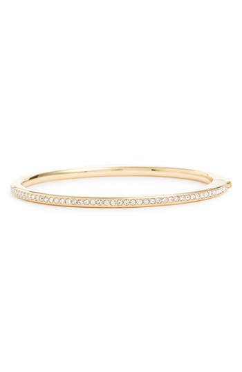 Women's Nadri Channel Set Crystal Hinged Bangle