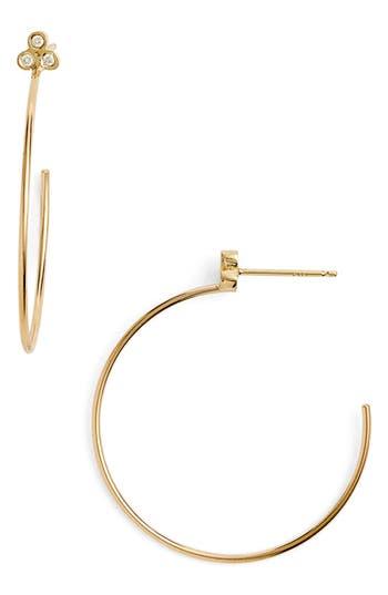 Zoe Chicco Diamond Cluster Hoop Earrings