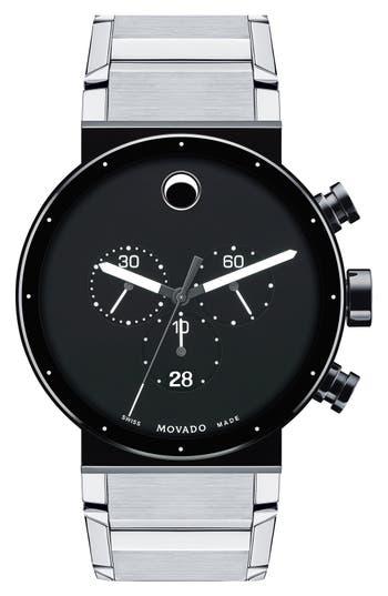 Men's Movado 'Sapphire Synergy' Chronograph Bracelet Watch, 42Mm