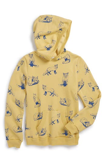 Girl's Wildfox 'Fox Toile' Graphic Hoodie