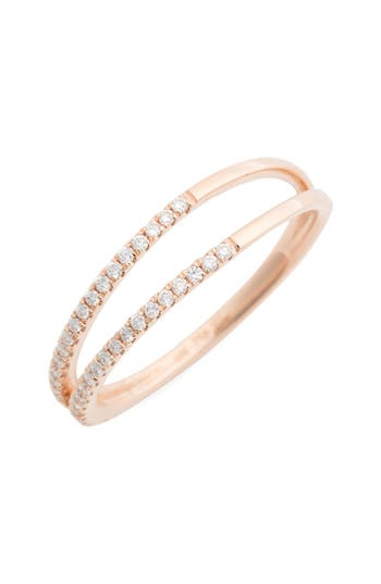 Women's Bony Levy Diamond Two Row Ring (Nordstrom Exclusive)