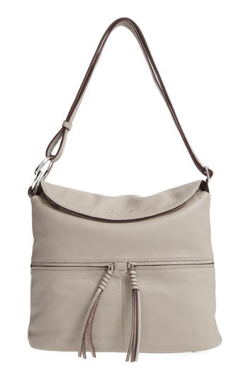 Elizabeth And James Finley Leather Hobo Bag - Grey