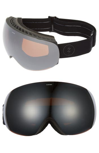 Women's Electric Eg3 254Mm Snow Goggles - Black/ Brose/ Silver Chrome