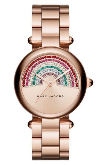Women's Marc Jacobs Dotty Crystal Bracelet Watch, 34Mm