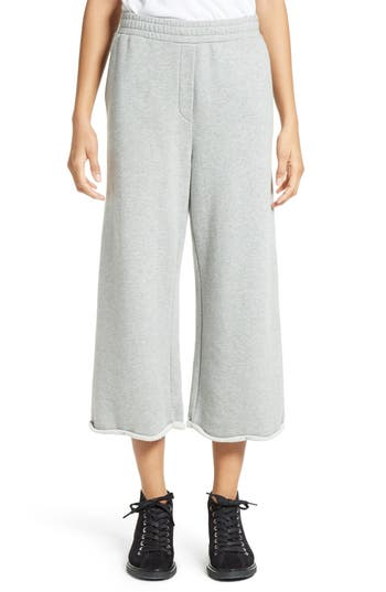 Women's T By Alexander Wang Crop Wide Leg Sweatpants