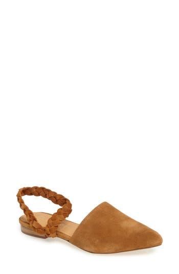 Matisse Braided Strap Flat- Beige