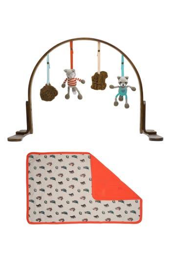 Infant Finn + Emma Wooden Play Gym & Woodland Mat