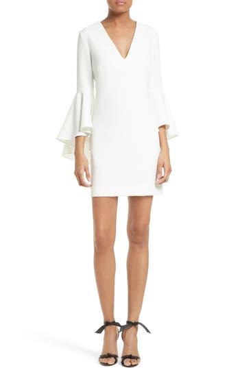 Women's Milly Nicole Bell Sleeve Dress, Size 10 - White