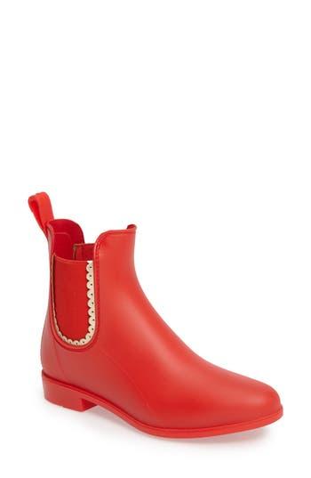 Jack Rogers Sallie Chelsea Rain Bootie, Red