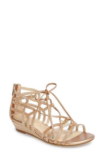 Women's Isola Elisia Lace-Up Sandal, Size 6 M - Metallic