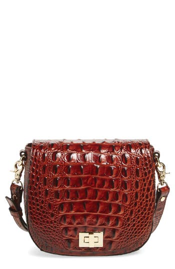 Brahmin Mini Sonny Leather Crossbody Bag - Brown